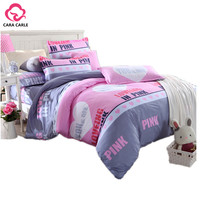 Pink Bedding Set 4pcs Bedclothes Duvet Cover Bed Sheet Bedspread Comforter Bedding Sets Bed Linen Cotton housse de couette