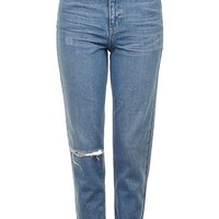 MOTO Blue Ripped Mom Jeans - New In This Week - New In