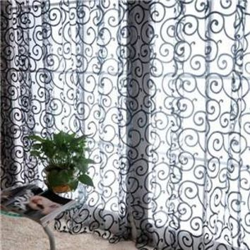 European Home Decor Door Windows Curtains For Living Room Jacquard Leaf Design Tulle Fabrics Sheer Curtains Drapes Balcony