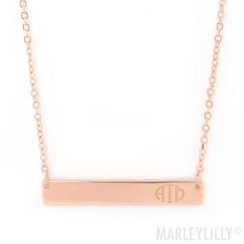 Monogrammed Bar Necklace | Marleylilly