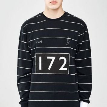 ATHLETIC JERSEY BLACK STRIPE - Tops