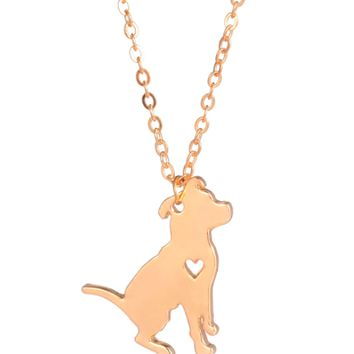 Golden Pitbull Necklace