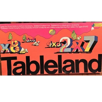 "Vintage 1988 Educational Board Game ""Tableland"" a Board Game Designed to Help Children Learn their Times Tables / Jigsaw Toy Factory"