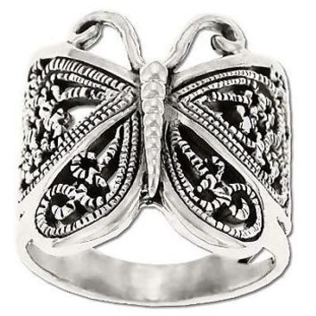 Sterling Silver Filigree ButterFly Ring