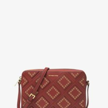 Jet Set Travel Large Diamond Grommet Leather Crossbody | Michael Kors