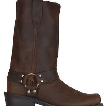 "Durango Mens Harness 11"" Boots Square Toe Brown DB594"