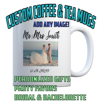 Custom ANY PHOTO or IMAGE 11 oz Coffee Mug Ceramic Coffee and Tea Cup