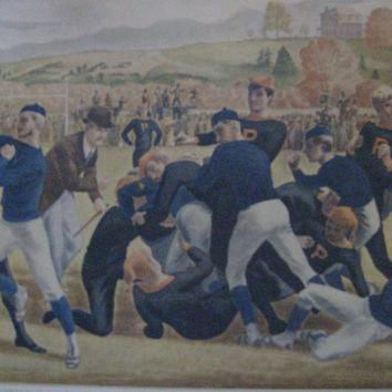 Currier Ives The First Intercollegiate Yale Princeton Football Game