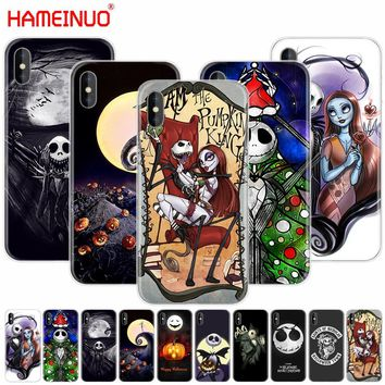 HAMEINUO Nightmare Before Christmas alloween cell phone Cover case for iphone X 8 7 6 4 4s 5 5s SE 5c 6s plus