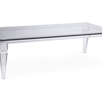 Ellis Cocktail Table, Clear, Acrylic / Lucite, Coffee Table Base, Sofa Table