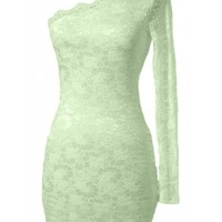 The Mint One Shoulder Dress