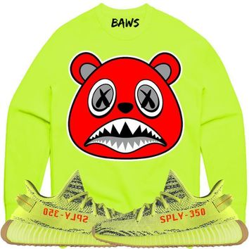 ANGRY BAWS Sneaker Crewneck Sweater - Yeezy 350 Boost Semi Frozen