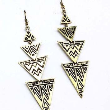 Tribal Drop Earrings | Klassiq