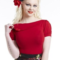 Cherry Sass Pinup Top