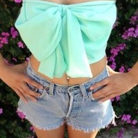 Mint Bow Bandeau
