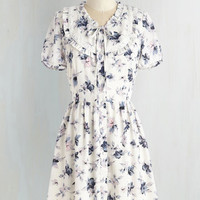 Mid-length Short Sleeves A-line Garden My French Dress