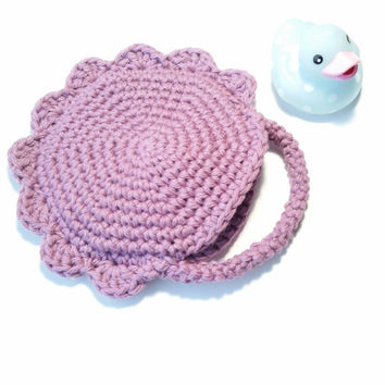 Soap Saver Bath Accessory Spa mitt Good Habit Rabbit handmade Cotton crochet baby soft Easter basket gift for her Gift Idea