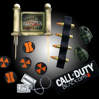 Call of duty black ops cake toppers and cupcake by TheCupcakeForge
