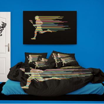 Lacrosse Comforter from Extremely Stoked Lacrosse Bedding collection