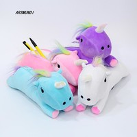 1 Pc Plush Unicorn Pencil & Cosmetic Case 4 Colors