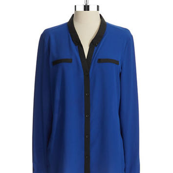 Anne Klein Button-Down Blouse
