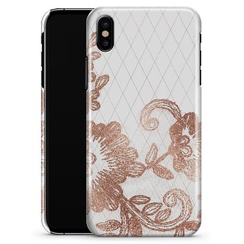 Rose Gold Lace Pattern 10 - iPhone X Clipit Case
