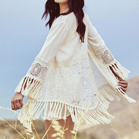 Fairest Lady Cream Lace Kimono Top