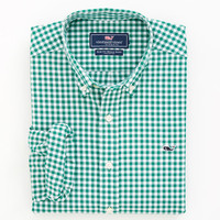 Roton Point Gingham Whale Shirt