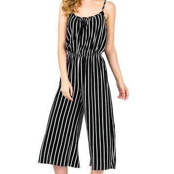 Boardwalk Stripe Culotte Jumpsuit