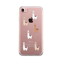 Llama Pattern Phone Case Cute Clear Phonecase
