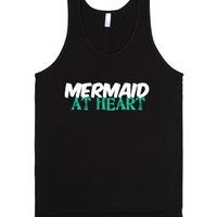 Mermaid At Heart-Unisex Black Tank