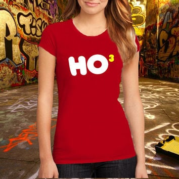 Ho 3 Nerdy Christmas T Shirt Printed T Shirt, Women T Shirt, (Various Color Available)