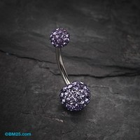 Classic Tiffany Inspired Sparkle Ferido Belly Ring
