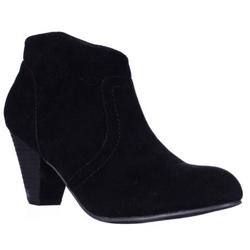 XOXO Aldenson Western Ankle Booties, Black, 5 US / 35.5 EU