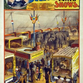 Circus Poster 24x36 vintage look