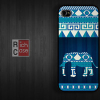 Case iPhone 4 Case iPhone 4s Case iPhone 5 Case idea case elephant  animal abstract blue