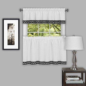 Ben&Jonah Collection Camden 58x14 Window Curtain Valance - Black