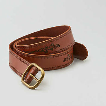 AEO Stitched Belt, Cognac