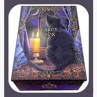 """ Midnight Vigil"" Black Cat Tarot Box"