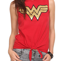 DC Comics Wonder Woman Tie Front Top | Hot Topic