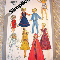 Vintage 11.5 inch Barbie Doll Clothes Pattern Teen Model Doll Pattern fits Barbie Midge Tammy Mitzi