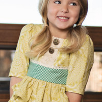 Persnickety Green Ruffle Tunic PREORDER