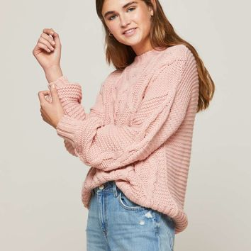 Pink Cable Knitted Jumper | Missselfridge