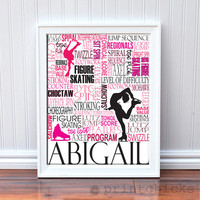 Figure Skating Print  Personalized Ice Skating by PrintChicks