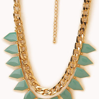 Bold Lacquered Spiked Necklace