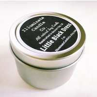 Little Black Dress Soy wax Candle,Soy Candle Tin, Scented Soy Candles, Hand Poured Soy Candles, Soy Candles Handmade