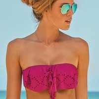 L*Space Swimwear Hunter Rose Top in Berry