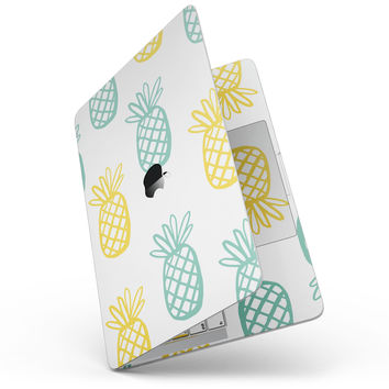 "Gold and Mint Pineapple - 13"" MacBook Pro without Touch Bar Skin Kit"