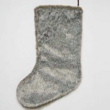 Paperchase Christmas Fur Stocking at asos.com