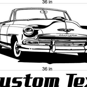 Buick Convertible Car Wall Decals Stickers Man Cave Boys Room Décor 3 FEET Wide